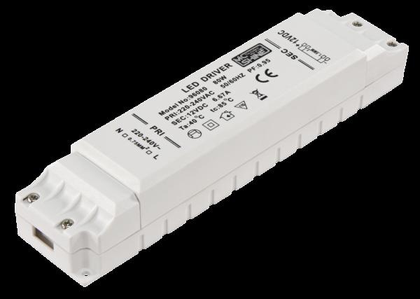 LED-Trafo, elektronisch, 1-80 W, 220-240 V